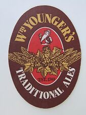 Beer Coaster Mat: William Younger's Traditional Ales SCOTLAND Brewery 1749 No3