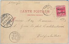 51900 - GIBRALTAR / MOROCCO AGENCIES - POSTAL HISTORY - POSTCARD to GERMANY 1898