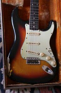 """1962 Fender """"Slab Board"""" Stratocaster  Great Shape - Original Brown Case"""