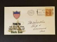 1943 Cleveland Ohio Connersville Tokyo Illustrated WWII Patriotic Airmail Cover