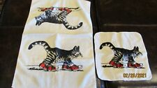 Vintage Kibland Sneakers Cat Hand And Washcloth Set