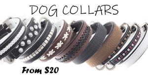 *CLEARANCE* Premium Leather Dog Collars 20-45cm