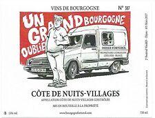 Etiquette BD Vin Bourgogne Côte de Nuits - GUILLAUTEAU - Festival Vini BD n°