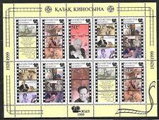 KAZAKHSTAN SC 279 NH MINISHEET of 1999 Cinema Movies Hitchcock