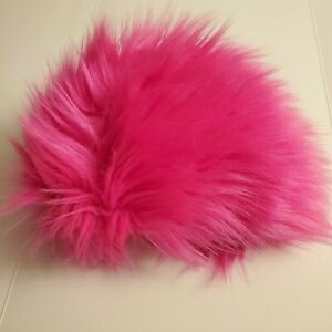 "8.5-9"" 22-23cm BJD fabric fur wig HOT PINK for 1/3 BJD SD AA LUTS DOLLFIE"