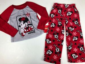 Jammies For Your Families Minnie Mouse 2 Piece Pajama Set NWT 6