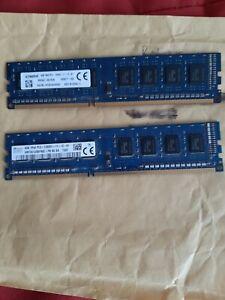 SK Hynix 2 x 4 gb DDR3 12800u 1Rx8  Desktop Ram  MINT