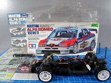 Partial Built Tamiya R/C 1/10 ALFA ROMEO 155 V6 TI MARTINI Racing TA03F Chassis