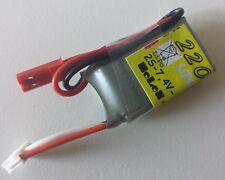 Lipo 2 S 220 mAh 7,4 V 40 C M. bec-Connecteur-Parfait Pour Hélicoptère + AVIONS