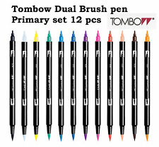Tombow Dual Brushpens 12 Pens Primary