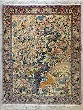 Feine Perser Brücke ISFAHAN Iran Korkwolle Blumenmuster 90 x 70 cm