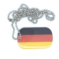 Deutschland Germany Dog Tag Erkennungsmarke Anhänger Kette flag 3x5cm