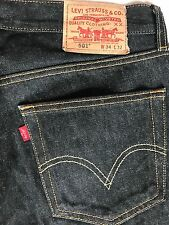 LEVI'S STRAUSS & CO 501 MEN'S BLACK WASH CLASSIC ORIGINAL BUTTON FLY JEANS 34X32