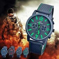 Men Fashion Military Stainless Steel Sport Racing Quartz Analog Wrist Watch #M
