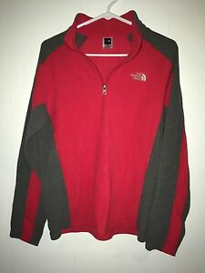 Youth The North Face Half Zip Light Jacket Youth X-Large EUC Red And Grey
