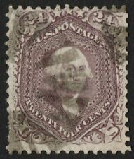 US Sc# 70 USED { 24c RED LILAC WASHINGTON } STRONG COLOR FROM 1861 CV$ 275.00