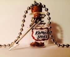 Hunger Games Inspired Katniss Seed  'Potion' Bottle Necklace Handmade Everdeen