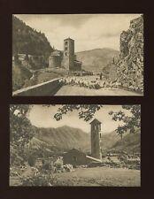 ANDORRA x2 c1930/40s? printed PPCs by V Claverol