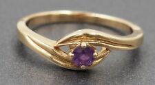Womens Amethyst Dress Ring 9ct Yellow Gold Fine Jewelry Band Size O 1/2