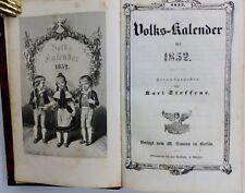 Volkskalender 1852 1853 Stahlstiche Holzstiche Ansichten Bremerhaven Holland