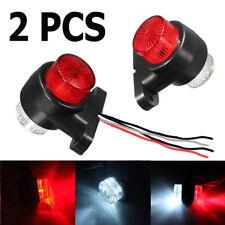 2x 12V-24V 8 LED Red/White Side Marker Light Lamp Trailer Truck Lorry Caravan