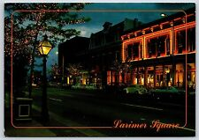 The Lights of Larimer Square in Denver, Colorado Continental Postcard New