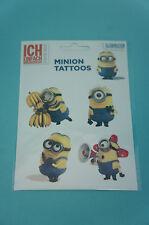 Minions Tattoo 5 Tattoos auf einem Bogen Motiv 3 Neu & OVP DESPICABLE ME MINION