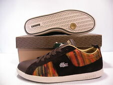 LACOSTE ABSERVE ELEMENTS LOW LEATHER WOMEN SHOES BROWN 14STW7991-L56 SIZE 8 NEW
