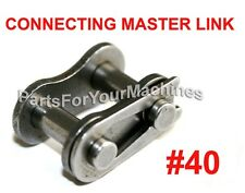 MASTER CONNECTING LINK #40 TO FIT ROLLER CHAIN #40, GO CARTS, MINI BIKES