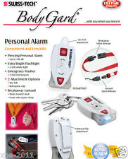 SWISS TECH BodyGard Personal Alarm ST81301 Flashlight /Flasher Lanyard Included