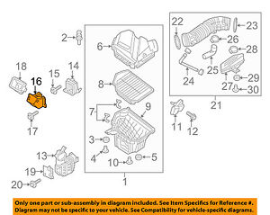 HYUNDAI OEM 15-16 Genesis Air Cleaner Intake-Intake Duct Tube Hose 28222B1100
