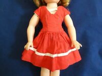 "Vintage Red Day Dress for 12"" MA Lissy or 12"" Shirley Temple READ"