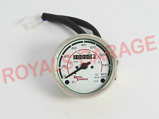 BRAND NEW VINTAGE UNIVERSAL ROYAL BIKES  WHITE FACE SPEEDOMETER 0-160KMPH 19