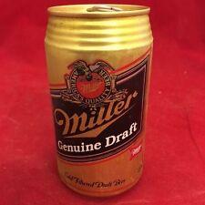 Miller Genuine Draft Empty 12 oz Beer can, aluminum, pop tab