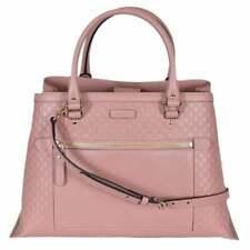 NWT Gucci Microguccissima Convertible Handbag Tote Soft Pink 510291