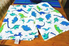 new Laura Ashley Dinosaurs Flannel flat sheet TWIN 100% Cotton kids