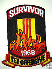 **SURVIVOR 1968 TET OFFENSIVE** Military Vietnam Veteran Biker Patch PM0391 EE