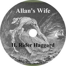 Allan's Wife, H Rider Haggard Audiobook unabridged English Fiction on 1 MP3 CD