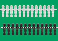 """13 White/13 Black New Style Foosball Men-5/8"""" Rod - 26 Tournament Soccer Men"""