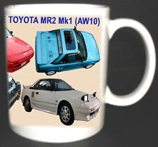 TOYOTA MR2 MK1 W10 CLASSIC CAR MUG. LIMITED EDITION. PERSONALISE FREE OF CHARGE