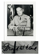 General Mark W. Clark 8'' x 10'' Signed Photo