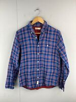 Hollister California Men's Long Sleeve Button Up Shirt Size S Blue Check