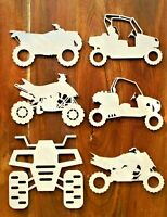 ATV Off Road Bikes Vehicles 4 Wheel All Terrain Wooden Craft Shapes Laser Cut