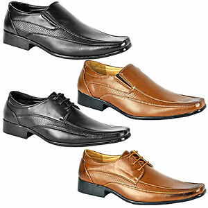 MENS FORMAL SHOES LEATHER SMART DRESS WEDDING OFFICE WORK CASUAL ITALIAN BOOTS