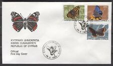 FDC G98 Cyprus 1983 3v insects Butterflies
