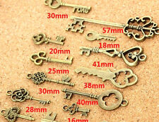 Wholesale 35 pcs Vintage Charms Mixed Keys Pendant Antique bronze 20_50 mm