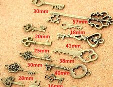 Wholesale 35 pcs Vintage Charms Mixed Keys Pendant Antique bronze 20_50 mm