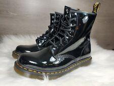 Dr Martens 11821 Black Wmns Sz 10 Patent Leather Boots (c1
