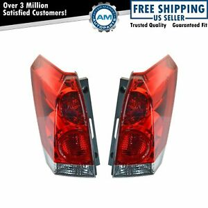 Taillights Taillamps Brake Lights Lamps Pair Set Rear For 04-08 Nissan Quest