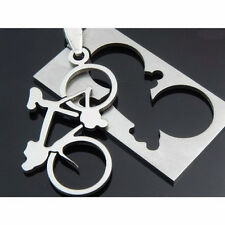 Pendant Necklace 50Cm Chain Jewellery Creative 1Pc Stainless Steel Bike Bicycle